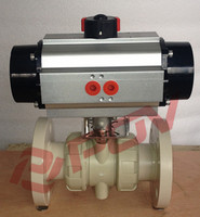 plastic pph pneumatic float valve with limit switch