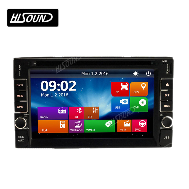 Hot selling 6.2'' with BT GPS car stereo dvd cassette player