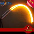 60cm LED Car Daytime Running Light with Sequential Amber Turn Lights 12V Flexible DRL