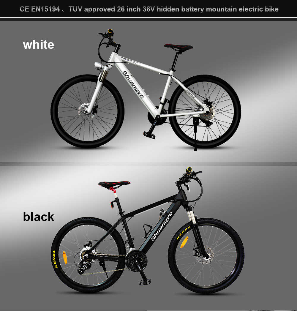 EN15194 approved 26 inch mtb frame 36V hidden battery mountain electric bike