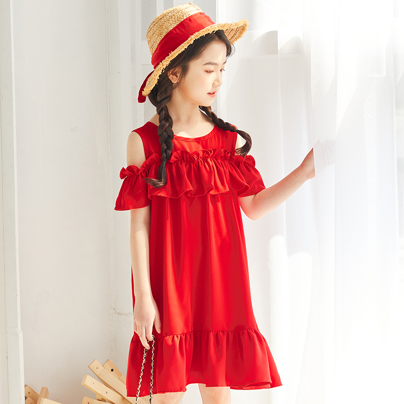 New Modern Fashion Red Costumes For Kids Turkish Style Dresses With Long Train Direct Buy From China Supplier