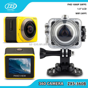 360 Degree Mini Sports Action Camera 360 Panoramic DV VR WIFI Camera Camcorder ZXS-360B