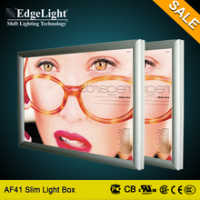 Edgelight Real estate agents advertising snap frame light pockets for window display