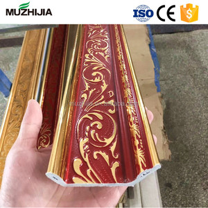 decorative frame plastic inside corner ceiling cornice moulding with marble design border line