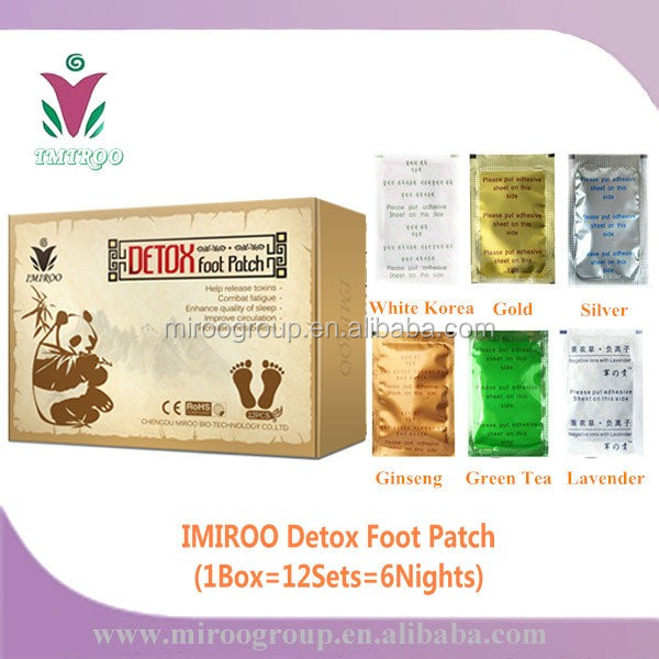 new style/brand IMIROO gold slim detox foot patch, hot sale super foot patches with plaster