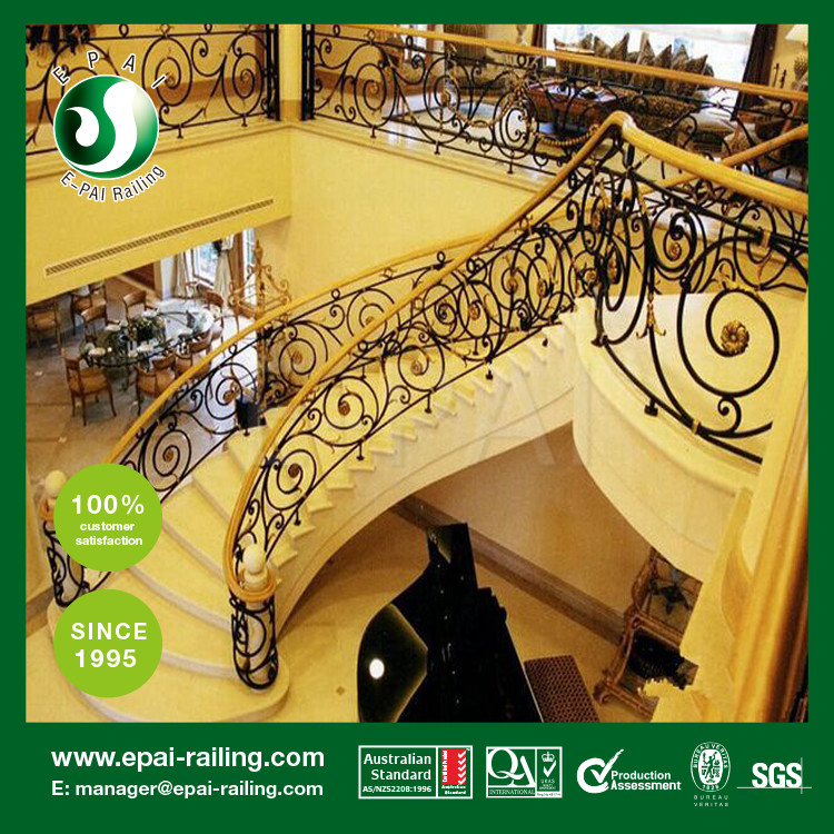good quality indoor stair wrought iron railing steel railing