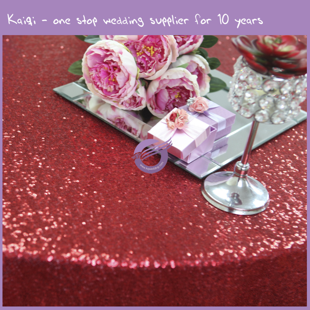 TX28043 sequins luxury wedding party hot sale wholesale glitz table cloths