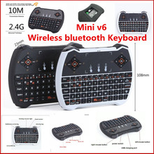 2.4GHz Mini Wireless Gaming Keyboard Air Mouse V6 Touchpad MIC Audio Chat for Laptops & Smart TV Box