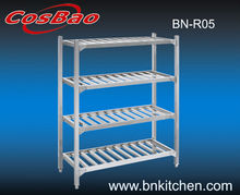 4 layers commercial kitchen storage shelf and rack (Square ladder ) BN-R05