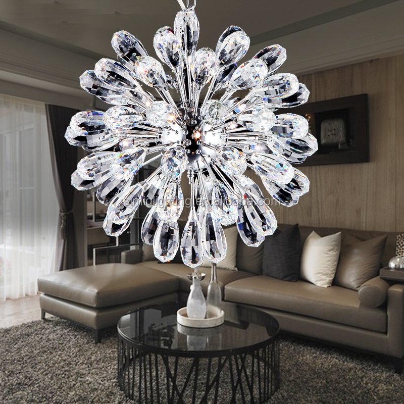 modern luxury Creative large led crystal ball chandelier lighting for egyptian marketing
