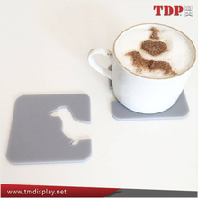 Manufacturer Colorful Fashion Design Set of Acrylic Dachshund Coaster, Acrylic Coffee Cup Coaster