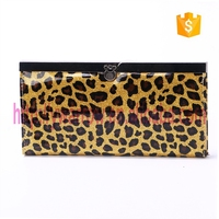 leopard printing pvc wallet for lady