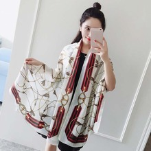 180*90cm twill cotton low price designer white silk scarf for painting