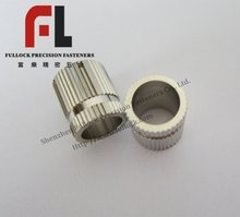 sharp knurled nickel plated brass washer