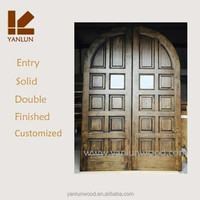 exterior use solid oak wood double garage door prices lowes