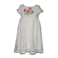 lace body wear white dresses for girls