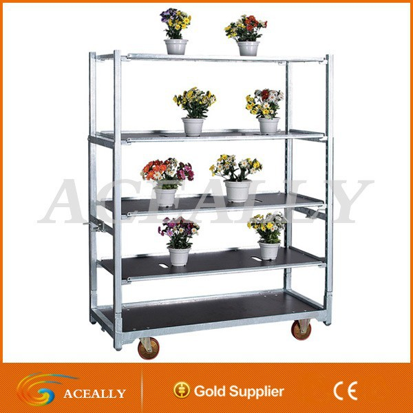 flower pot rack cart trolley