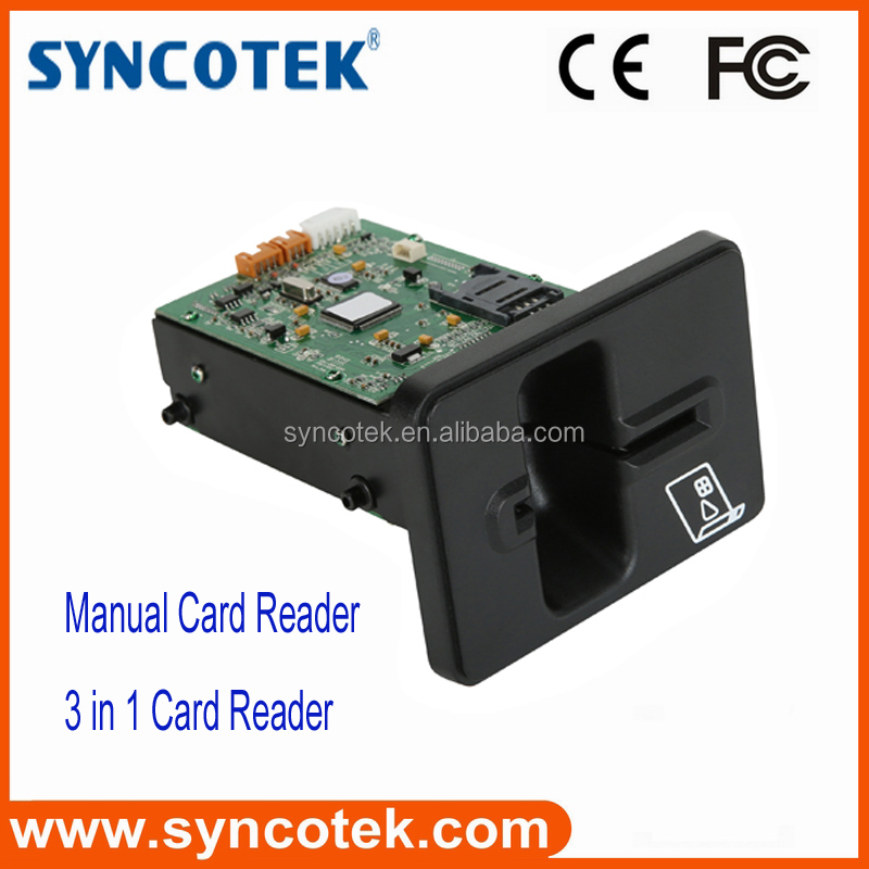 China EMV manual insert smart card reader module for access control system