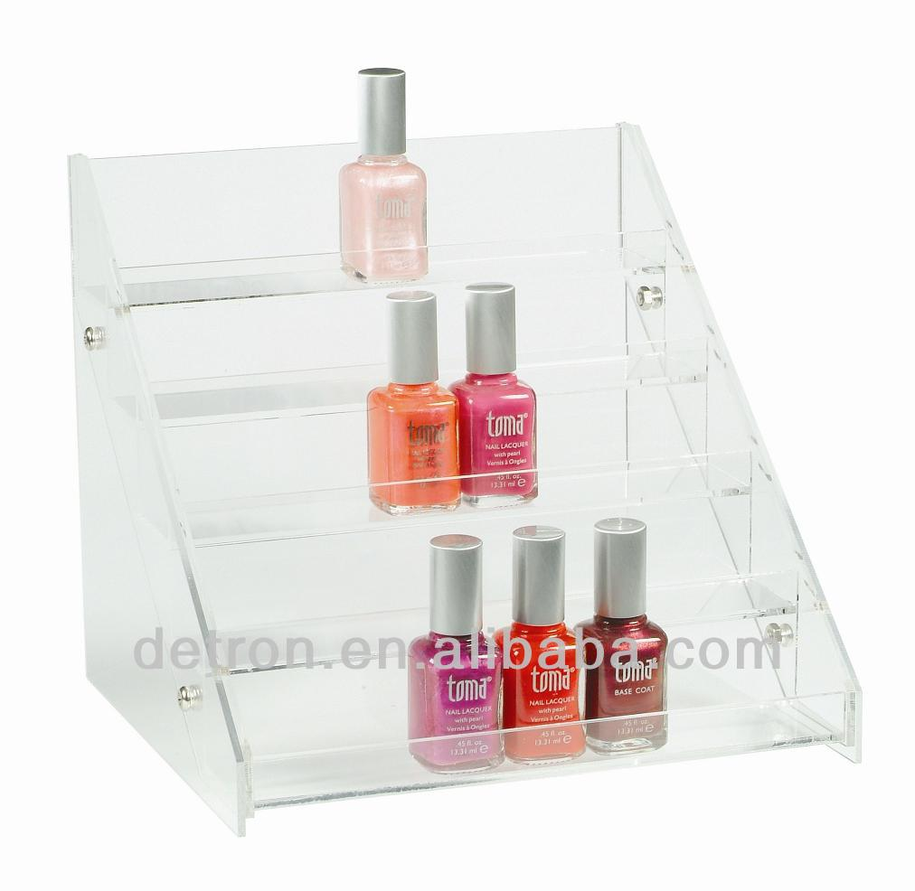Clear acrylic nail polish stand holder cosmetic display BW-1161