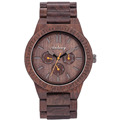Auto Date wooden wrist watch