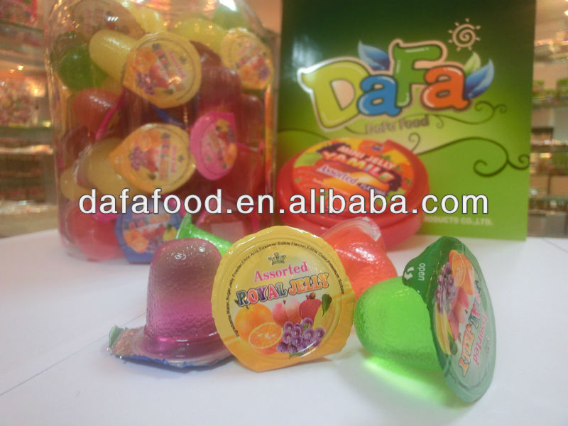 Dafa assorted fruit flavors jelly,mini jelly cup,mixed fruit jelly
