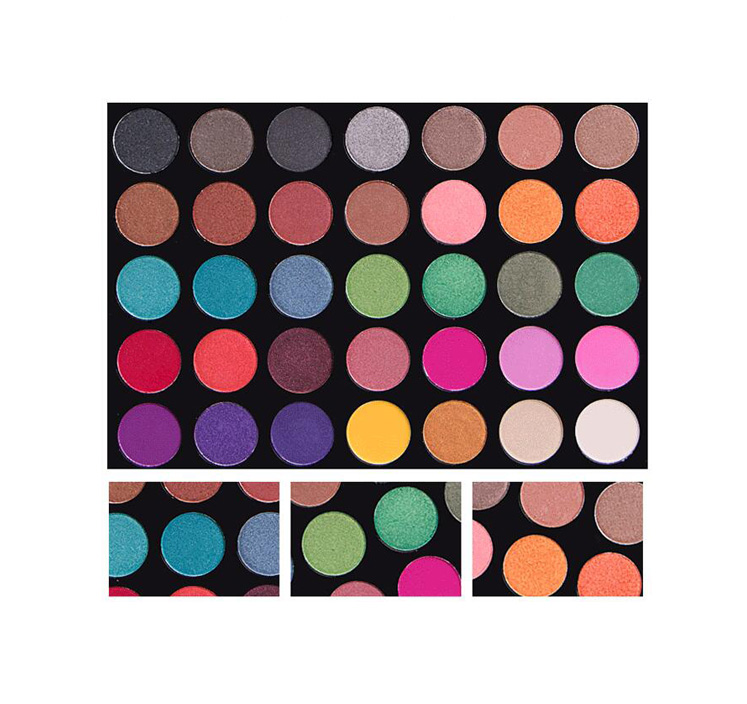 35 Colors Colourful Eyeshadow Palette Organic Makeup <strong>Cosmetics</strong>