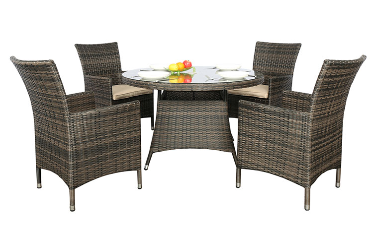 Hot sale rattan wicker dining table set