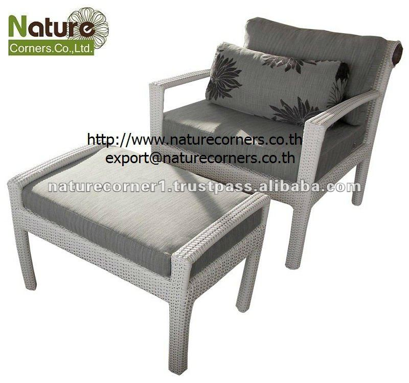 TF0813 Outdoor Rattan Leisure Chairs with ottoman