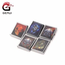 slim retro sliver colour metal cigarette case for 10pcs cigarettes