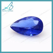 Wax setting gems pear cut blue nano gems stones