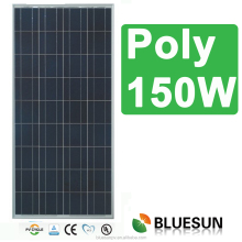 Bluesun factory stock supply fast deliver 25years warranty polycrystalline 12v 150w solar panel
