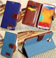 New Jean Wallet PU Leather Case With ID Credit Card For iphone 5C have stock