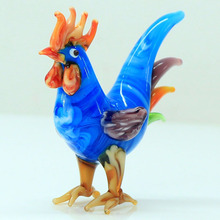 wholesale new arrival blown murano glass figurines with the French cock
