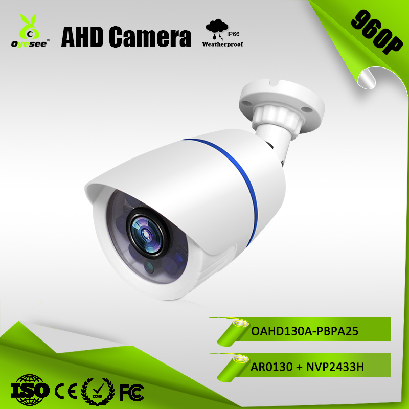 OAHD130A-PBPA25 960P 1.3mp 1400TVL 3.6mm Lens 6Pcs IR Leds 25m IR range cheap AHD cameras cctv camera high definition