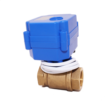 CWX15N brass MINI electric motor valve motorized control valve for water leakage detecttion equipment