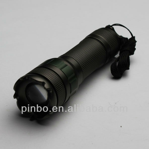 aluminum 3w cree led police flashlight