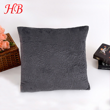 Solid micromink 100% polyester decorative embroidery luxury cushions