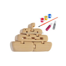 3D wooden craft puzzle boat