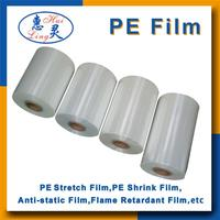 Factory price PE/LLDPE clear heat shrink plastic film in roll