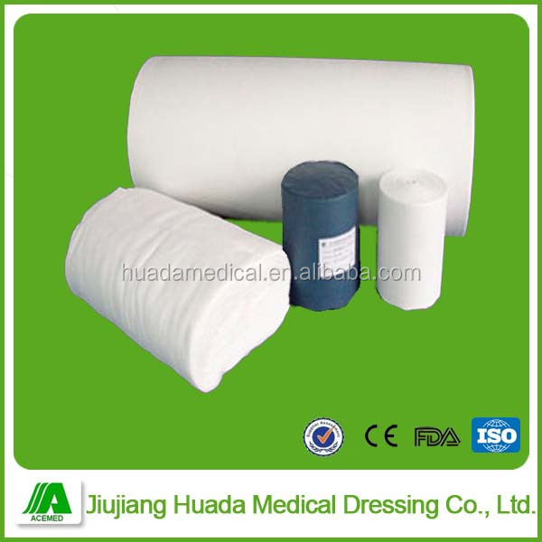 100% cotton absorbent bleached zig zag gauze with X-ray detectable thread