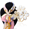 fashion scarf accessories jewelry,flower diamond scarf clip scarf ring design(PR178)