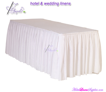 pleated table skirts for weddings, banquets, parties, trade shows and other events-21', 17', 14'