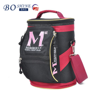 DONGGUAN BOSHINE 600D factoy outlet BSCI insulated portable pinic promotional beer ice bag beer bottle cooler bag