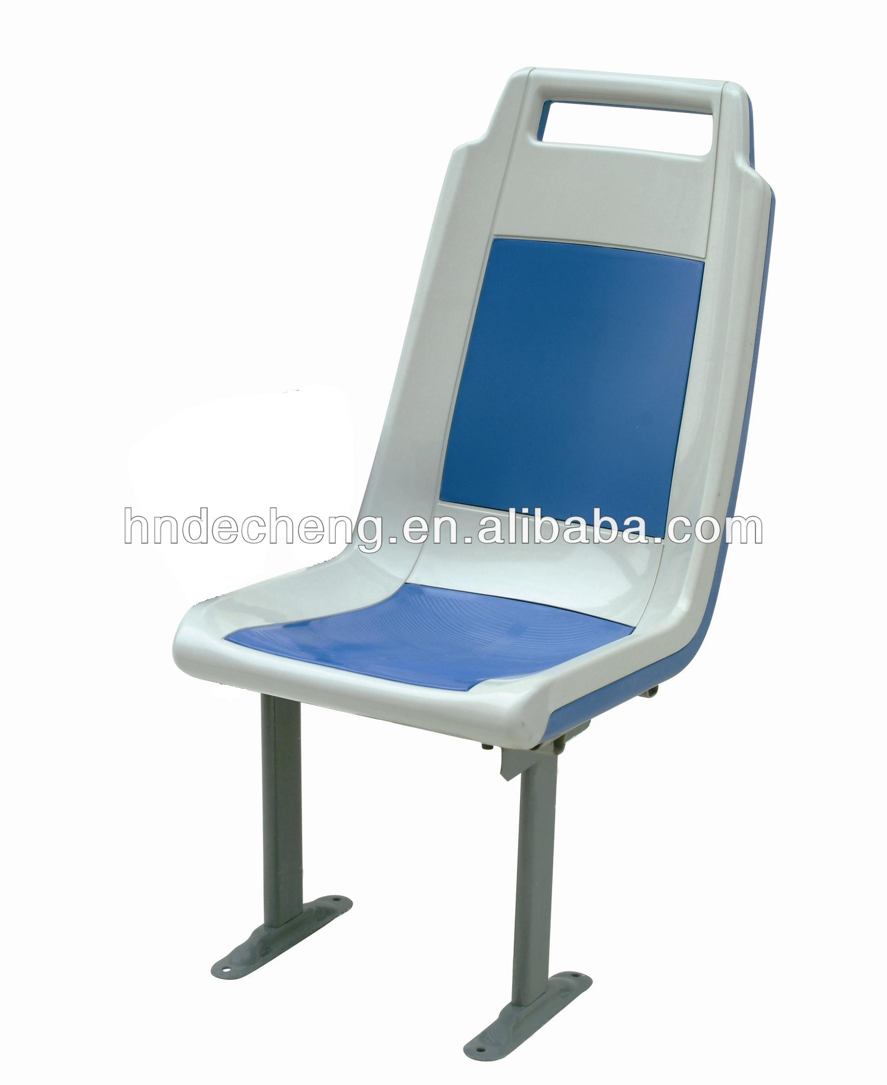 Plastic passenger seat for city bus