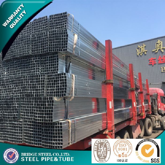 Pre galvanized square pipe ASTM A53 tianjin hollow section steel pipe