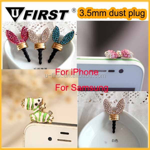 Cell phone ear cap anti dust plug charm for iPhone