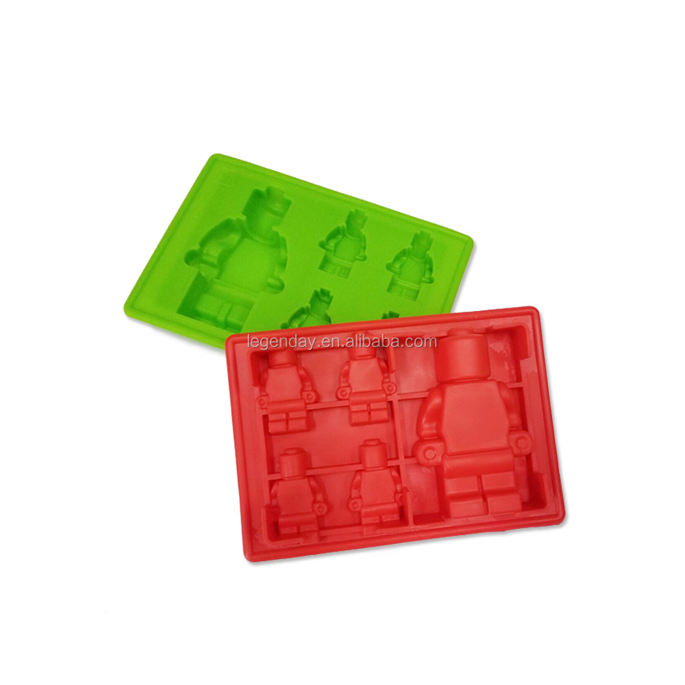Robot Shape 5 Cavities Silicone Gummy Molds Candy Mold Chocolate Mold