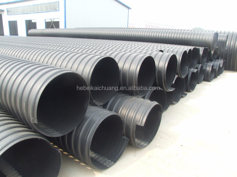 800mm drain hdpe double wall corrugated pipe