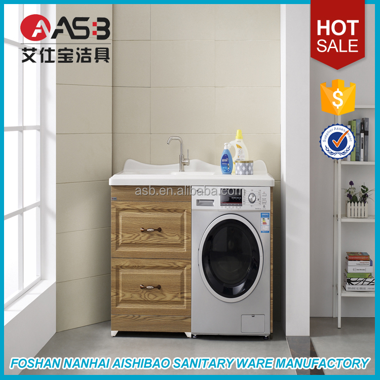 waterproof wearable bathroom laundry cabinet washing machine cabinet
