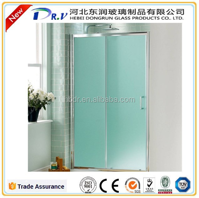 3mm-12mm Deep acid etched Decorative frosted glass for office partition